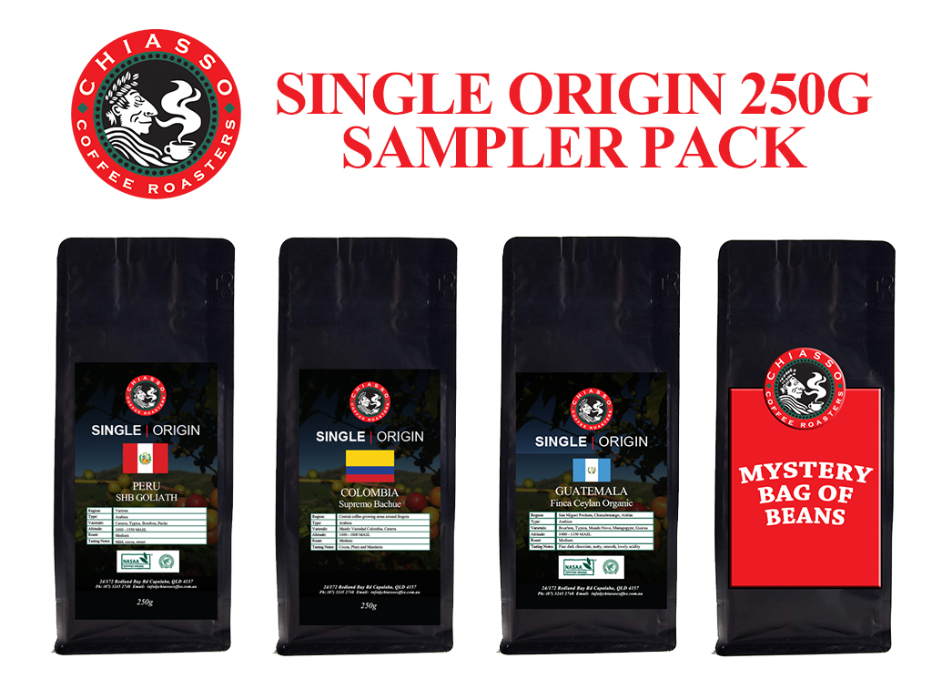 SINGLE ORIGIN SAMPLER PACK 4X250G